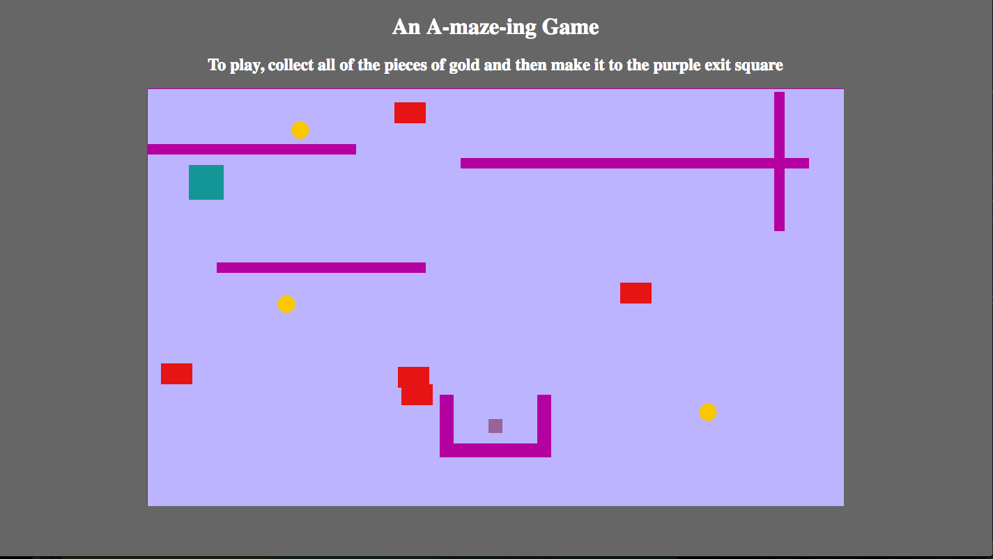a screenshot of the A-maze-ing game